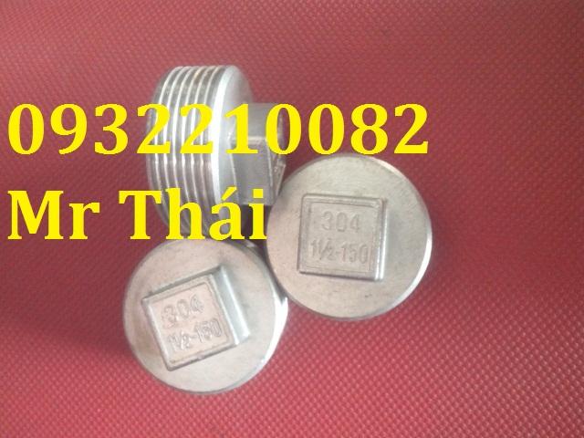 Nút bịt ống ren ngoài inox 304/201