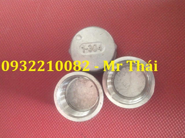 Nắp bịt ống ren trong inox 304/201