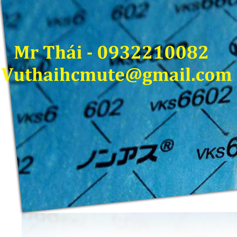 Gioăng tấm không amiang chịu nhiệt VALQUA VKS 6602